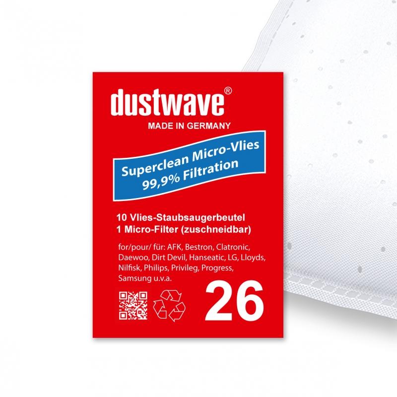 M7101 M7103 M7109 20 Staubsaugerbeutel geeignet für Dirt Devil EQU2 M7101-7