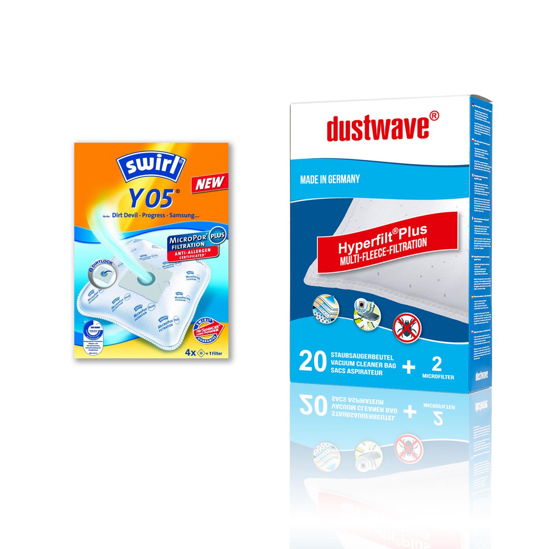 Original Swirl Y05 oder dustwave D54 Staubsaugerbeutel für
