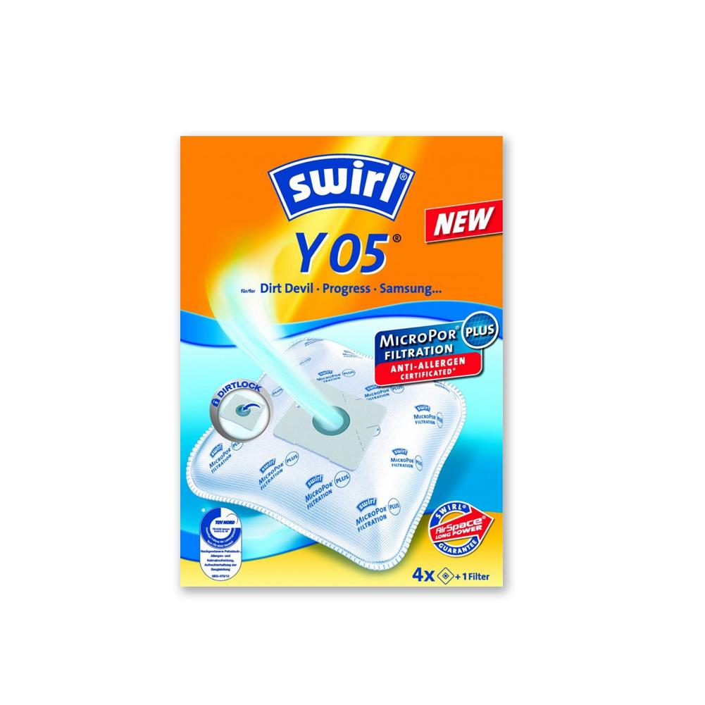Swirl Y05 oder 2 - 40 dustwave D54 Vlies-Staubsaugerbeutel